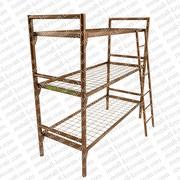 Металлические кровати с деревянными спинками,  кровати для рабочих.