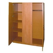 Шкаф для одежды ДСП трехдверный с антресолью комбинированный, шкафы