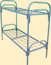 Кровать одноярусная усиленная из 51 трубы сетка