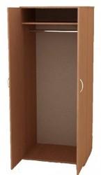 Деревянные шкафы со штангой для плечиков,  Гардеробные шкафы